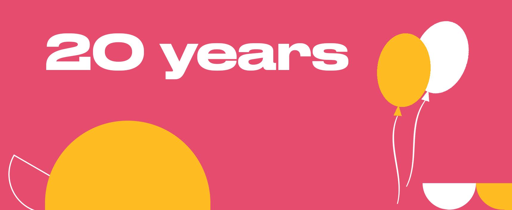 IG 20 years birthday